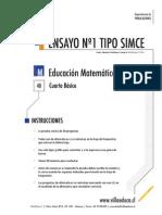 Ensayo1 Simce Matematica 4basico 2014