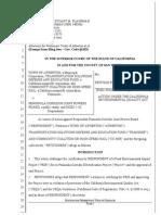 Petition for Writ of Mandate (Atherton et al vs. CalTrain)