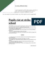 HANDOUT Comparing News Articles School Riot