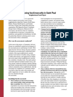 Assessing Food Insecurity in Saint Paul, Minnesota