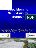 Agricultural Nets & Floating Row Covers - New Tools for Vegetable Production in Africa; Gardening Guidebook