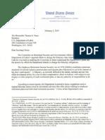 Sen. Ron Johnson letter