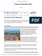ELIXENS Harvest Report September 2014