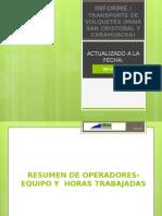 Informe de Transporte de Volquetes Febrero 2015