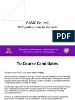 Pre-course MCQ Instructions to Students - BASIC Course