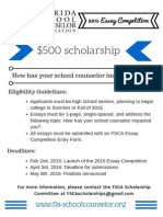 2015 FSCA Scholarship Competition