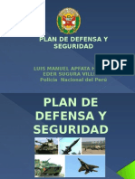 Plan de Defensa y Seguridad
