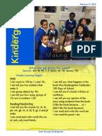 February 9th Kindergarten Newsletter