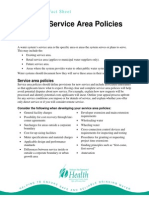 Department Of Health - Service Area Policies Fact Sheet