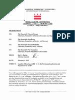 Legal Analysis Re Hearing on Bill 21-23 (Marijuana) 2-4-15
