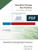 Share Point Storage Best Practices