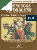 TSR 9099 AC2 Combat Shield & Mini-Adventure