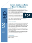 Director Medical Affairs, California Stem Cell Agency