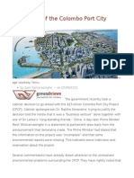 Economics of the Colombo Port City Project