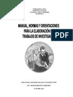 Manual Trabajos de Investigación Metodologia