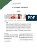 Physically-based Human Neck Simulation