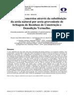 Produção de Concretos Através Da Substituição de Areia Natural Por Areia Proveniente de Reciclagem