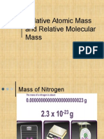 atomic mass and molecular mass