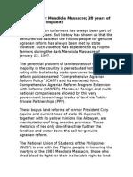 Mendiola Massacre Statement 2015