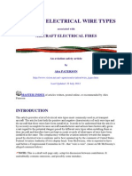 Aircraft Electrical Wire Types
