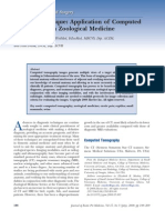 Clinical Technique Application of Computed Tomography in Zoological Medicine
