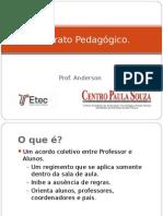 Contrato Pedagógico Prof. Anderson Oliveira