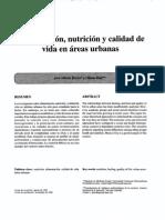 Alimentación, Nutrición y Calidad de Vida en Áreas Urbanas