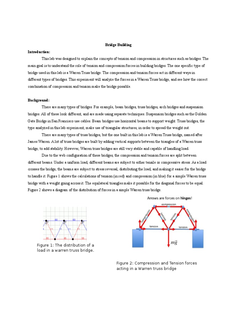 Pleasant Bridge Building Lab Report Truss Bridge Wiring 101 Akebretraxxcnl
