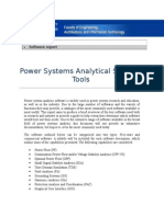Power Systems Analytical Software Tools