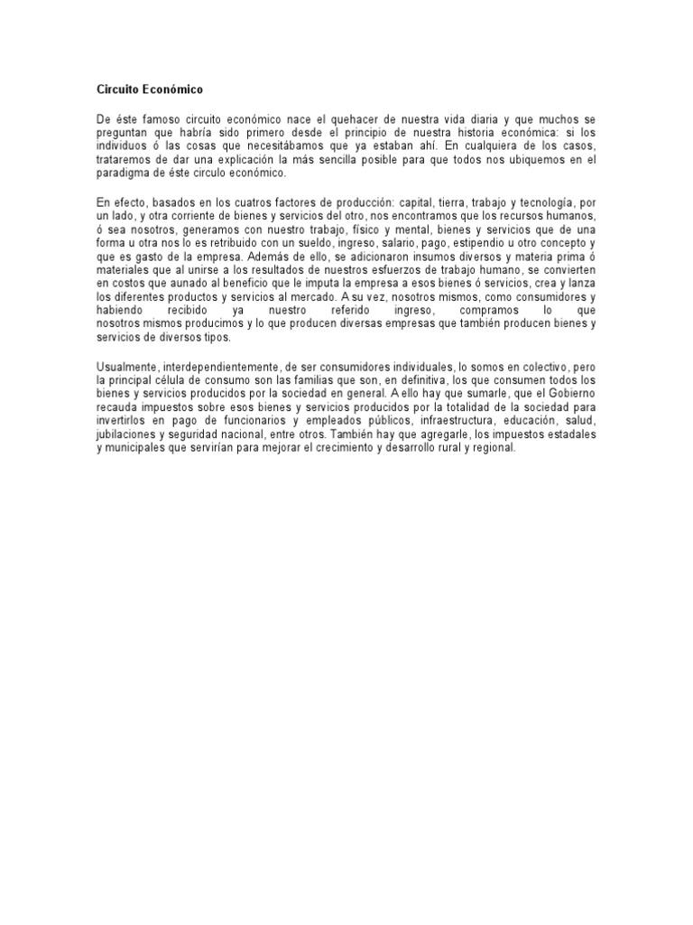 Circuito Economico : Circuito económico instituciones financieras