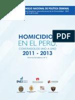 """""""Homicidios en el Perú, contándolos uno a uno 2011-2013"""""""