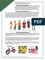 early childhood factsheet