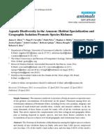 Aquatic Biodiversity in the Amazon