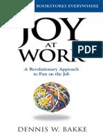 Joy at Work by Dennis Bakke (Summary)