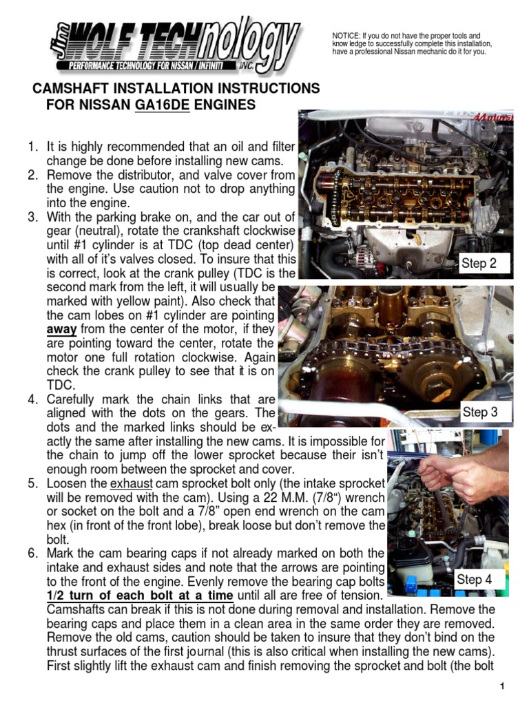 Ga16de workshop manual 1991 nissan sentra ga16de issues array cam install inst for ga16de vehicle parts manufactured goods rh pt scribd fandeluxe Images
