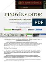 PinoyInvestor Academy - Fundamental Analysis Part 4