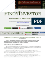 PinoyInvestor Academy - Fundamental Analysis Part 3