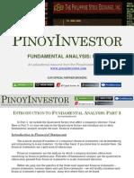PinoyInvestor Academy - Fundamental Analysis Part 3
