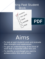 Evaluating Past Student Work Power Point