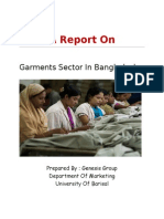 Report On Garments Sector In Bangladesh