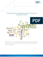 Vitamins and Nutrition Supplements Market Forecast and Analysis
