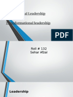 Transactional Leadership And  Transformational leadership