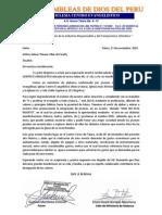 Carta Pidiendo Apoyo Economico
