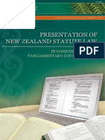 Presentation of New Zealand Statute Law