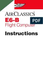 E6B Flight Computer Manual