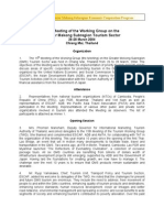 Proceedings of the Fifteenth Meeting of the GMS Tourism Working Group (TWG -15)