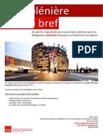 Briefing de plénière - Février 2015