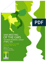 Proceedings of the Thirty Fourth Meeting of the GMS Tourism Working Group (TWG-34)
