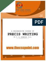 A Progressive Course on Precis Writing