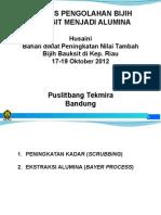 Produksi Alumina (Bayer Process)